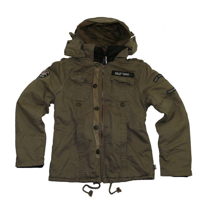 khujo herren winter jacke parka jones ii olive ebay. Black Bedroom Furniture Sets. Home Design Ideas