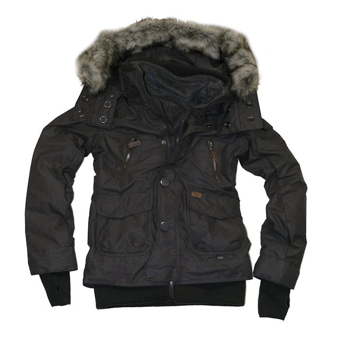 khujo damen winter jacke mit fleeceweste margret ii charcoal grau ebay. Black Bedroom Furniture Sets. Home Design Ideas