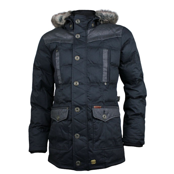 khujo herren winterjacke dresden dunkelblau ebay. Black Bedroom Furniture Sets. Home Design Ideas