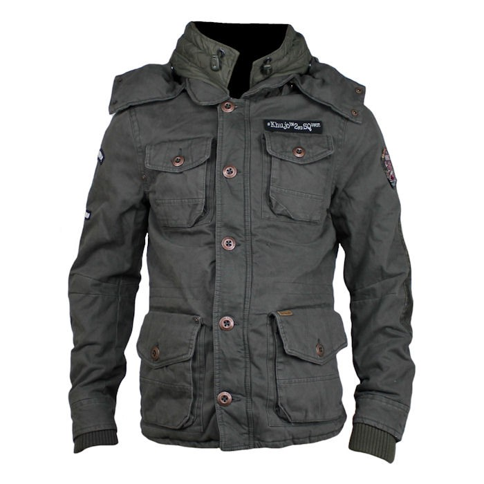 khujo herren winterjacke wiss solid mud dunkelbraun ebay. Black Bedroom Furniture Sets. Home Design Ideas